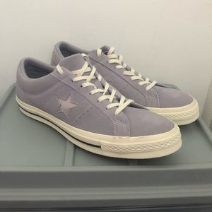 Converse All Star Lilac Star Suede Shoes